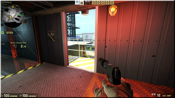 The image above shows the entrance to the platform - Mission 18 - Black Gold - Small guns, big problems - Difficult missions - Counter-Strike: Global Offensive Game Guide