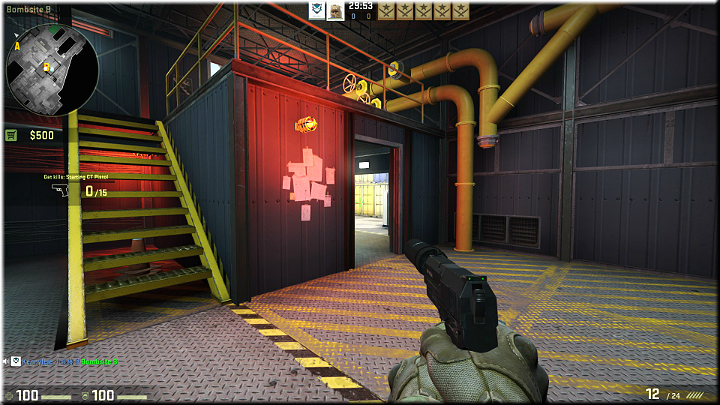 An exit from the hangar - Mission 18 - Black Gold - Small guns, big problems - Difficult missions - Counter-Strike: Global Offensive Game Guide