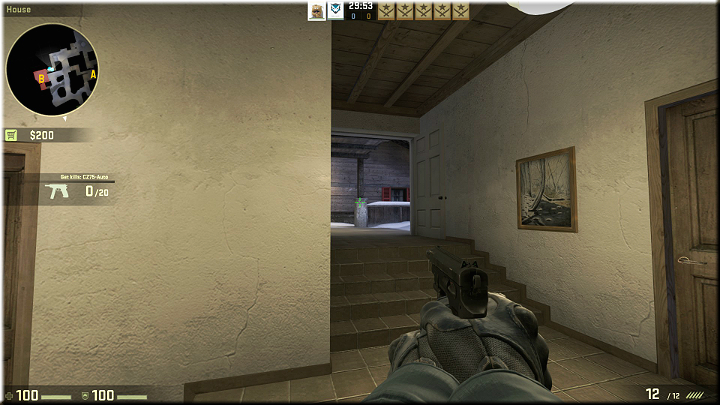 The picture above shows a corridor thats leading to the stairs, which can be used by the enemies to get to the building - Mission 19 - Austria - Killer views - Difficult missions - Counter-Strike: Global Offensive Game Guide