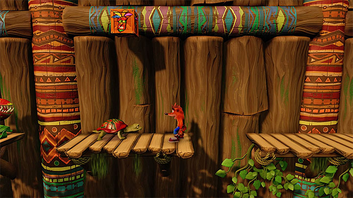 Notice the turtle shown on the above picture - The Great Gate | N. Sanity Island | Levels - Crash Bandicoot - N. Sanity Island - Crash Bandicoot N. Sane Trilogy Game Guide