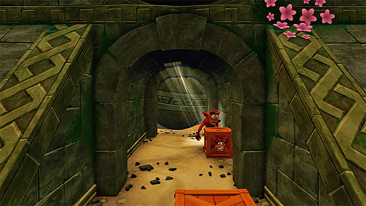 Completing this level isnt as hard as it seems - Crash wont be immediately crushed even if you stop somewhere for a short while - Boulders | N. Sanity Island | Levels - Crash Bandicoot - N. Sanity Island - Crash Bandicoot N. Sane Trilogy Game Guide