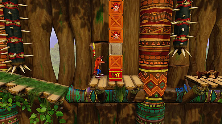 Continue your journey while avoiding spikes and flames - Native Fortress | N. Sanity Island | Levels - Crash Bandicoot - N. Sanity Island - Crash Bandicoot N. Sane Trilogy Game Guide