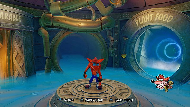 Overall view of the Sewer Warp Room - Sewer Warp Room | Crash Bandicoot 2 | Levels - Crash Bandicoot 2 - Sewer Warp Room - Crash Bandicoot N. Sane Trilogy Game Guide