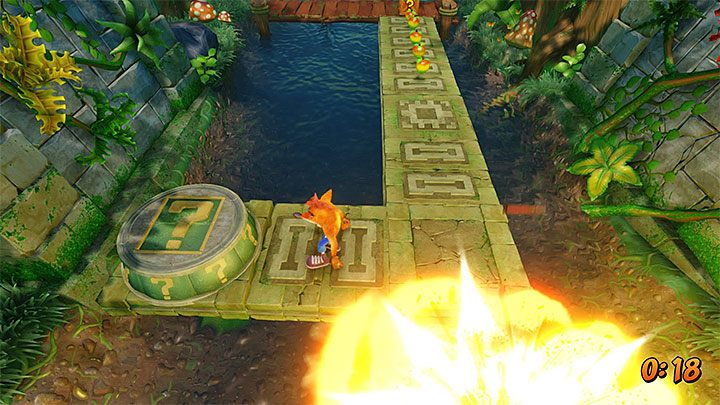 Stop in the current location for a moment - Plant Food | Crash Bandicoot 2 | Levels - Crash Bandicoot 2 - Sewer Warp Room - Crash Bandicoot N. Sane Trilogy Game Guide