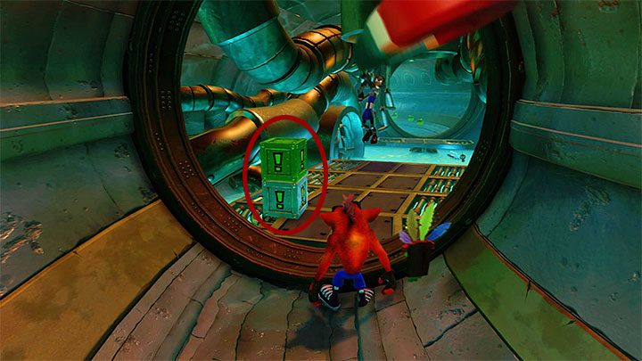 Right past the wall, there is a fork - Sewer or Later | Crash Bandicoot 2 | Levels - Crash Bandicoot 2 - Sewer Warp Room - Crash Bandicoot N. Sane Trilogy Game Guide