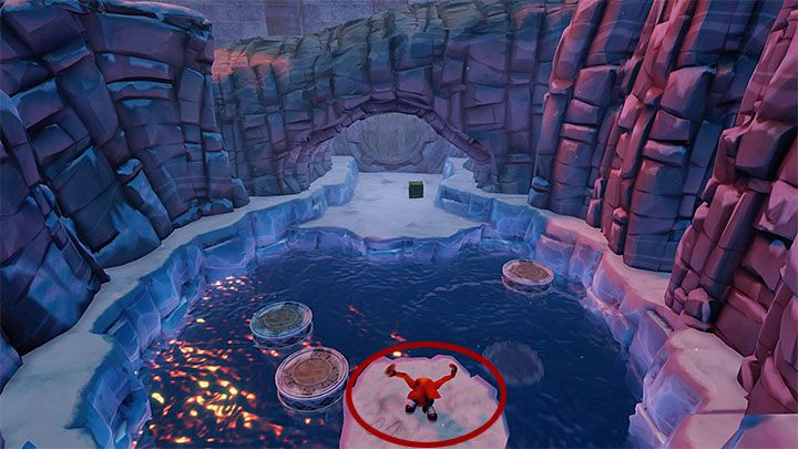 You can now go to the portal ending the mission and jump between the floating platforms at the bottom of the screen (Note - they submerge - Bear Down | Crash Bandicoot 2 | Levels - Crash Bandicoot 2 - Sewer Warp Room - Crash Bandicoot N. Sane Trilogy Game Guide