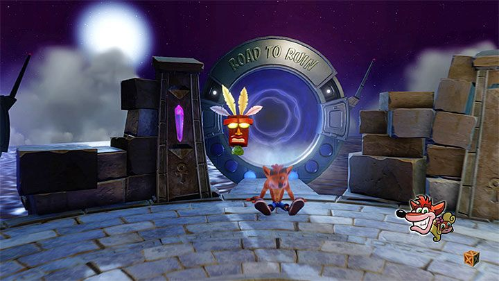 It has already been mentioned that, in Road to Ruin, you cannot smash all the crates during the first play - Road to Ruin | Crash Bandicoot 2 | Levels - Crash Bandicoot 2 - Sewer Warp Room - Crash Bandicoot N. Sane Trilogy Game Guide
