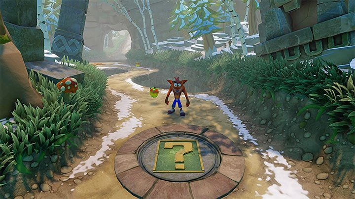Regardless of whether you have completed the secret location, you will be able to collect the violet crystal from the main path and you will reach the pressure plate shown in the above screenshot which will take you to the bonus round - Un-Bearable | Crash Bandicoot 2 | Levels - Crash Bandicoot 2 - Sewer Warp Room - Crash Bandicoot N. Sane Trilogy Game Guide