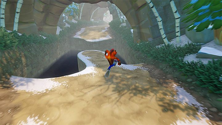If you want to end this stage now, go towards the bottom of the screen and reach the portal (and collect the clear gem, if you have smashed all the crates) - Un-Bearable | Crash Bandicoot 2 | Levels - Crash Bandicoot 2 - Sewer Warp Room - Crash Bandicoot N. Sane Trilogy Game Guide