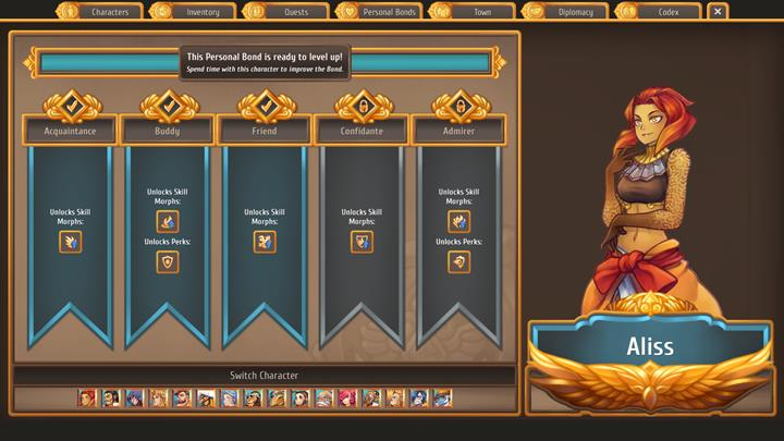 Aliss can be considered as one of the best combat characters - Which citizens to enter relationships with   Citizens - Citizens - Regalia: Of Man and Monarchs Game Guide