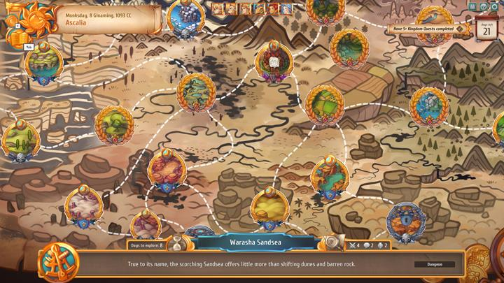 The order in which you want to explore the lands is up to you. - Journeys - general description   Dungeons and combat - Dungeons and combat - Regalia: Of Man and Monarchs Game Guide