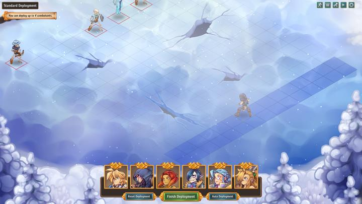 Before the battle, you can position your party members. - Description and course of battles   Dungeons and combat - Dungeons and combat - Regalia: Of Man and Monarchs Game Guide