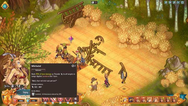 AoE skills are perfect against groups of weapon enemies. - How to fight enemies effectively?   Dungeons and combat - Dungeons and combat - Regalia: Of Man and Monarchs Game Guide