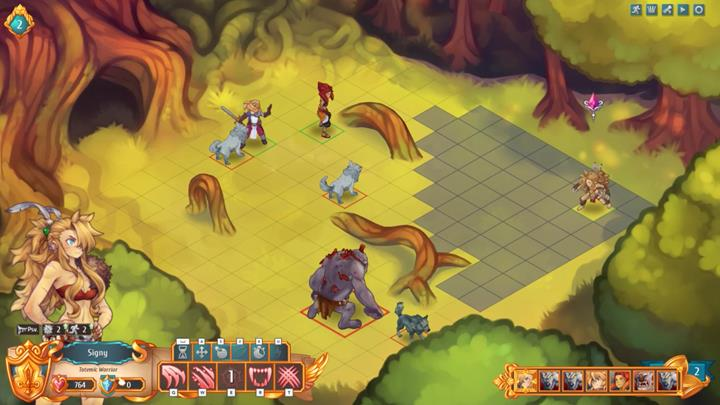Position your characters at a long distance from each other - have two of them fight with wolves, and have Signy take position closer to the troll - Example battles   Dungeons and combat - Dungeons and combat - Regalia: Of Man and Monarchs Game Guide