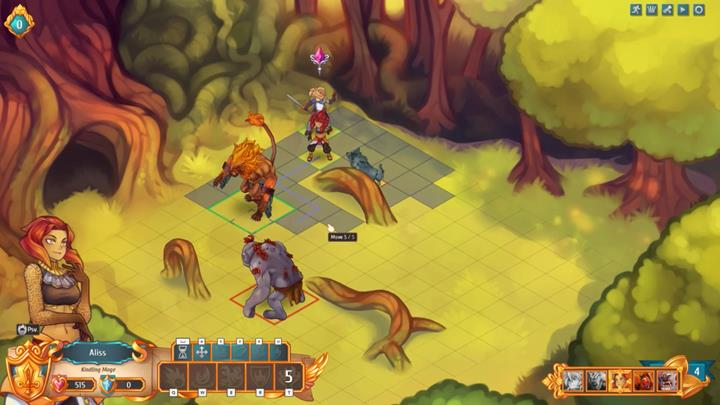 Fortunately, the previously cast barrier will burn up one of the wolves, and the second one will die from physical damage - Example battles   Dungeons and combat - Dungeons and combat - Regalia: Of Man and Monarchs Game Guide