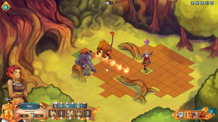 The remaining part of the battle is very easy - Example battles   Dungeons and combat - Dungeons and combat - Regalia: Of Man and Monarchs Game Guide