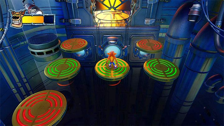 The entire battle is fought on nine floating platforms - Tiny Tiger | Boss Fights in Crash Bandicoot 2 - Crash Bandicoot 2 - Crash Bandicoot N. Sane Trilogy Game Guide