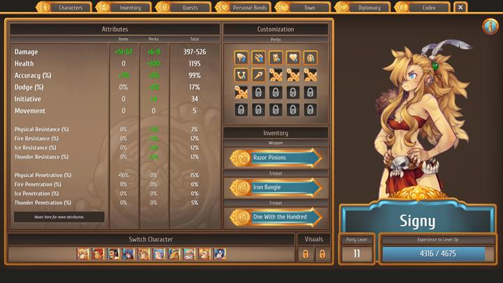 The savage and fearless Signy is one of the best dpss in the game - The best combat party members and skills   Dungeons and combat - Dungeons and combat - Regalia: Of Man and Monarchs Game Guide