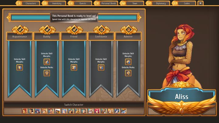 Start by spending one day with each character - Finishing royal quests in Chapter 1   Walkthrough for Chapter 1 - Walkthrough for Chapter 1 - Regalia: Of Man and Monarchs Game Guide