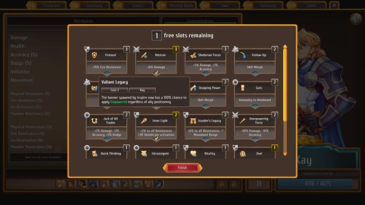 Also, remember to distribute new skills among your characters on a regular basis - Finishing royal quests in Chapter 1   Walkthrough for Chapter 1 - Walkthrough for Chapter 1 - Regalia: Of Man and Monarchs Game Guide