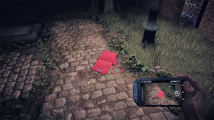 Scan Roses purse (can be done only the first time you find it) - The interrogation of Rose Atkins | Black | Walkthrough - Black - Get Even Game Guide