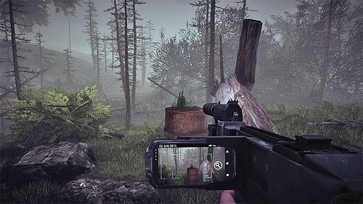 During your walk through the swamp keep an eye on your phone, as it will inform you of one of the areas that can be scanned (as a trace) - Reaching Roger Howard | Black | Walkthrough - Black - Get Even Game Guide