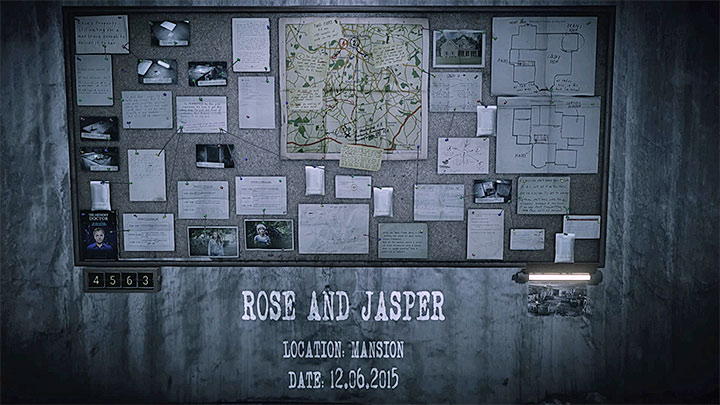 The evidence board for Rose and Jasper memory is presented in the picture above - Rose and Jasper | Hidden memories - Hidden memories - Get Even Game Guide