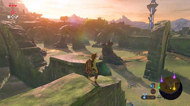 The temple is located within the ruins - The Isolated Plateau | Main quests - Main quests - The Legend of Zelda: Breath of the Wild Game Guide