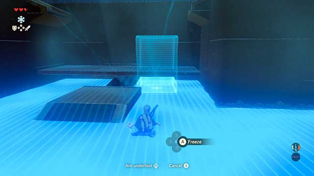 Pick up the ramp with a block of ice - The Isolated Plateau | Main quests - Main quests - The Legend of Zelda: Breath of the Wild Game Guide