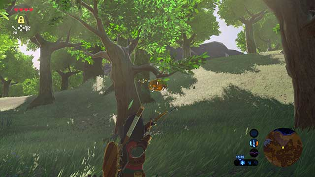 Chase away the bees to collect some honey - Dueling Peaks Tower | Side quests - Side quests - The Legend of Zelda: Breath of the Wild Game Guide