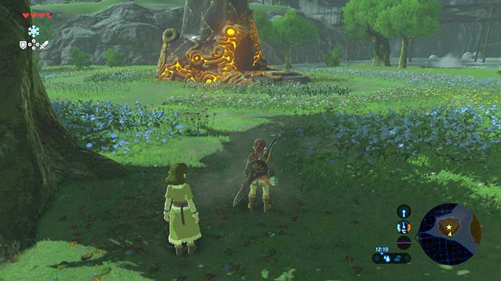 Reach the shrine so as not to destroy the flowers - Dueling Peaks Tower | Shrines - Shrines - The Legend of Zelda: Breath of the Wild Game Guide