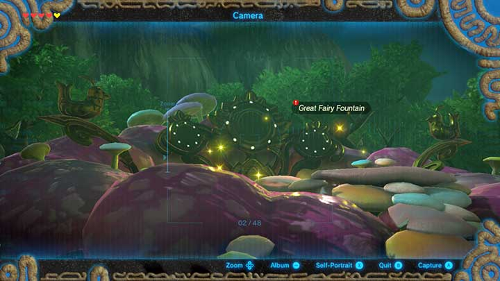 Take a picture of the fountain - Find the Fairy Fountain | Main quests - Main quests - The Legend of Zelda: Breath of the Wild Game Guide