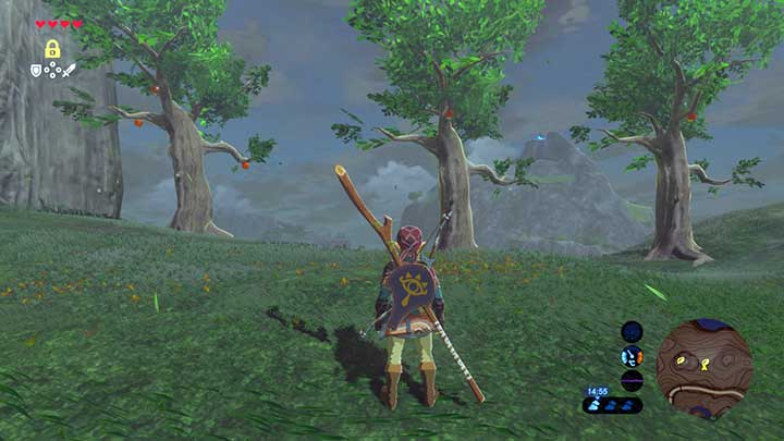 Make the apples on each tree be in the same location - Dueling Peaks Tower | Korok Seeds - Korok Seeds - The Legend of Zelda: Breath of the Wild Game Guide