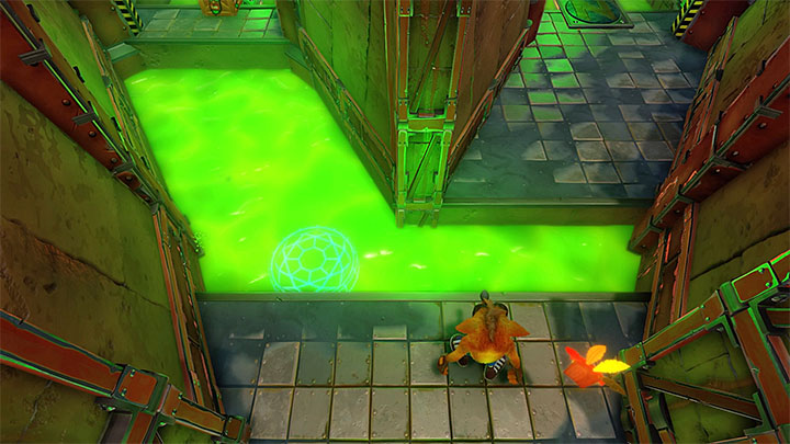 A bit further (and at the right moment),hop over a cluster of hot pipes - Cortex Power | Cortex Island | Levels - Crash Bandicoot - Cortex Island - Crash Bandicoot N. Sane Trilogy Game Guide