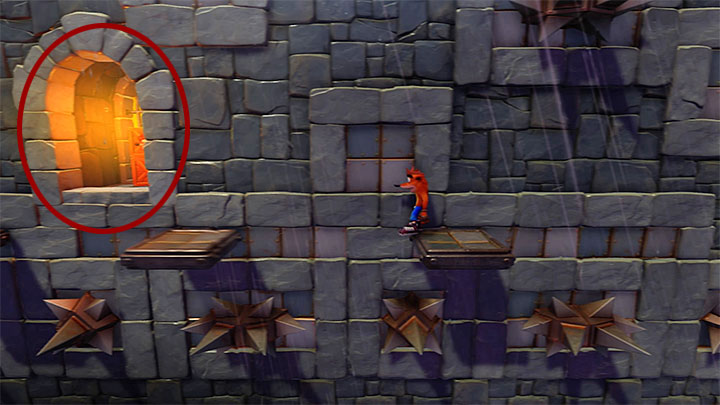 Smash the crates in the starting point and go left - Slippery Climb | Cortex Island | Levels - Crash Bandicoot - Cortex Island - Crash Bandicoot N. Sane Trilogy Game Guide