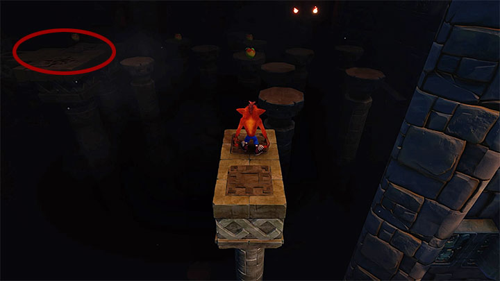Go left and remember to bounce off the spider to jump over thechasm - Jaws of Darkness | Cortex Island | Levels - Crash Bandicoot - Cortex Island - Crash Bandicoot N. Sane Trilogy Game Guide