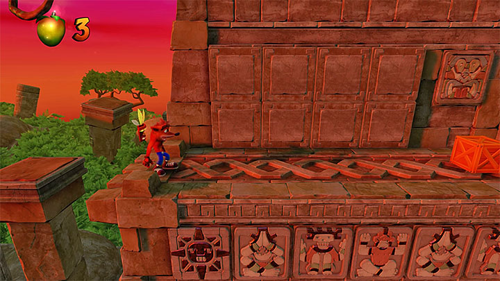 The second token can be acquired shortly after reaching the place presented in the picture - Cortexs Crazed Contest | Crash Bandicoot | Trophy Guide - Crash Bandicoot - Crash Bandicoot N. Sane Trilogy Game Guide
