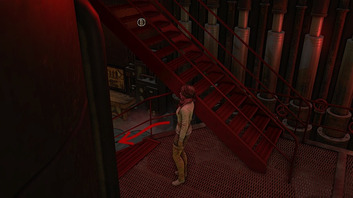Now, return to the engine room (best take the stairs on the left) - Get rid of the monster | Chapter four | Walkthrough - Chapter four - Syberia 3 Game Guide
