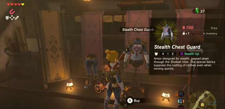 When you collect the entire armor set, your opponents will barely hear your steps. - Sneaking up | Gameplay basics - Gameplay Basics - The Legend of Zelda: Breath of the Wild Game Guide