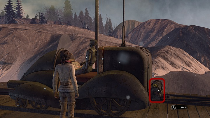 Zoom in on the vehicle, especially the back of it - Repair the automaton | Chapter five | Walkthrough - Chapter five - Syberia 3 Game Guide