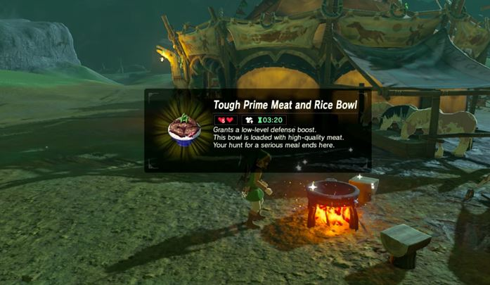 You should also prepare more powerful meals that will aid you in the toughest boss fights. - Cooking, brewing, recipes | Gameplay basics - Gameplay Basics - The Legend of Zelda: Breath of the Wild Game Guide