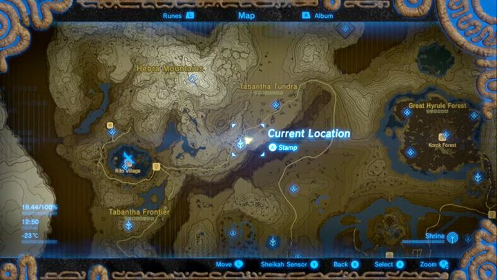 The minigame is located here, right next to Hebra Tower. - Whats the quickest way to earn rupees? | FAQ - FAQ - Frequently asked questions - The Legend of Zelda: Breath of the Wild Game Guide