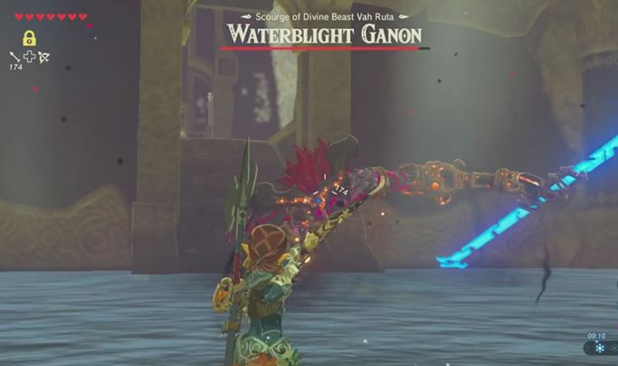 Aim at the enemy from a distance and try to shorten the distance. - Waterblight Ganon | Bossfights - Bossfights - The Legend of Zelda: Breath of the Wild Game Guide