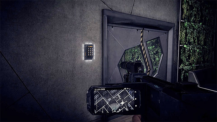 You will get to the locked door as soon as you use the lift to the top floor (the ADS HQ) - How to deal with the electronic door lock in the ADS HQ? - Solving the puzzles - Get Even Game Guide