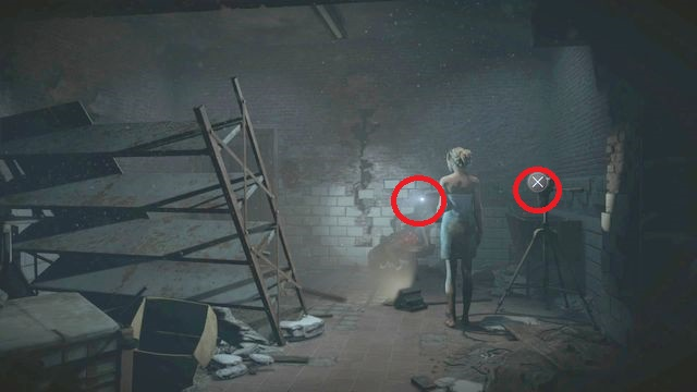 Climb up the stairs and, around the corner, you find double door with round windows - Episode 7 | Clues and totems - locations - Clues and totems - locations - Until Dawn Game Guide & Walkthrough