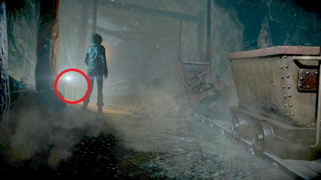 The photo is found by Emily after she drops into the mine - Episode 7 | Clues and totems - locations - Clues and totems - locations - Until Dawn Game Guide & Walkthrough