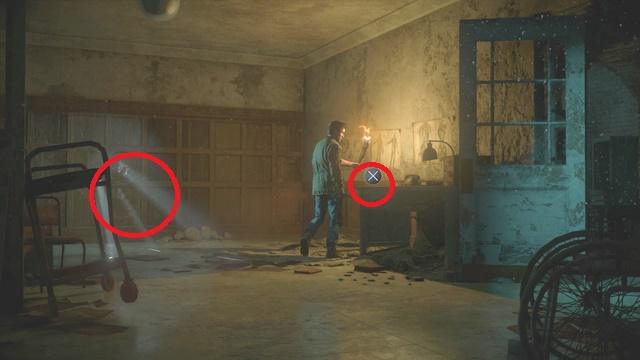 Both of the clues are at the end of the corridor, where you find the movie tape - Episode 9 | Clues and totems - locations - Clues and totems - locations - Until Dawn Game Guide & Walkthrough
