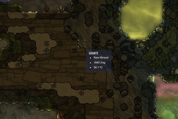 Granite - Minerals, rocks and metals | Resources - Resources - Oxygen Not Included Game Guide
