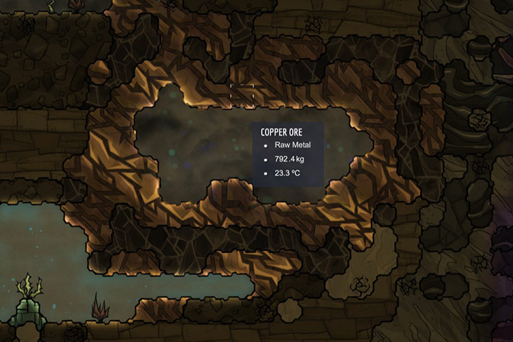 Copper Ore - Minerals, rocks and metals | Resources - Resources - Oxygen Not Included Game Guide