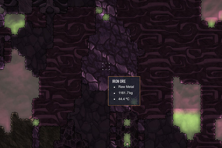 Iron Ore - ruda zelaza - Minerals, rocks and metals | Resources - Resources - Oxygen Not Included Game Guide